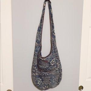 Miss Sixty 2000's Denim Floral Shoulder Bag